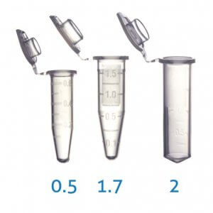1.7 ml Graduated Micro Centrifuge Tubes Low Retention/ STERILE / 500 Tubes