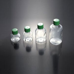 Solution Bottles 250ml, Green cap,Sterilized (1/pkg, 24/cs)